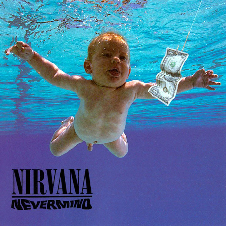 Nirvana album cover, Nevermind.  1991