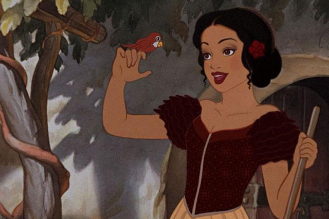race-swapped Disney princesses