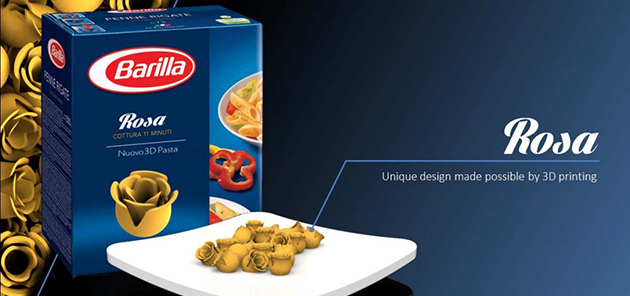 Barilla uses 3D printing to find its next pasta shapes