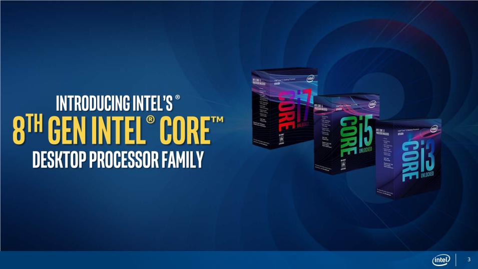 英特尔发布首批 Coffee Lake 架构第八代 Core i 桌上处理器