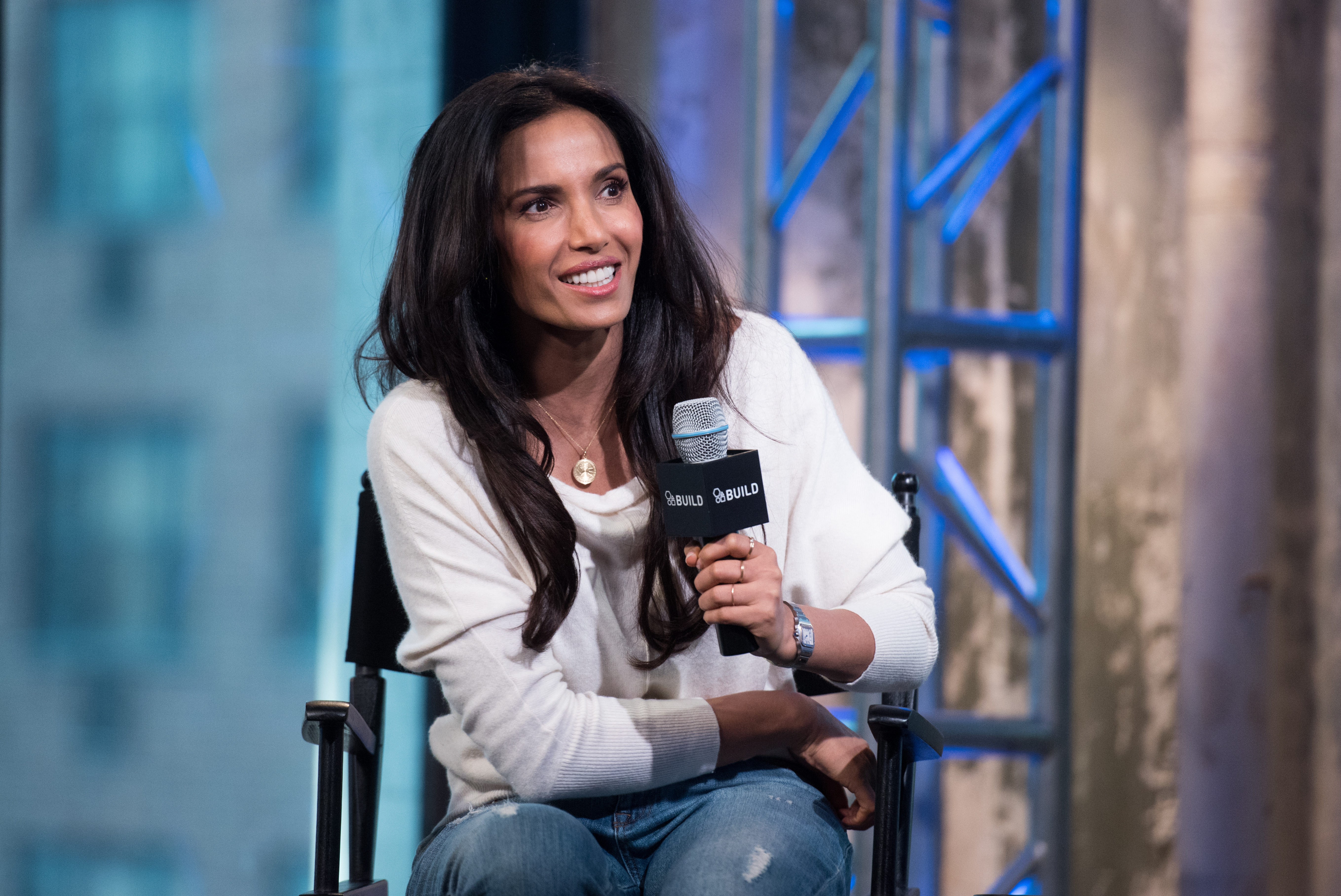 Padma Lakshmi visits AOL Hq for Build on March 8, 2016 in New York. Photos by Noam Galai