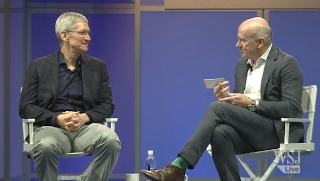 Full video of Tim Cook's recent 34 minute WSJD Live interview posted online