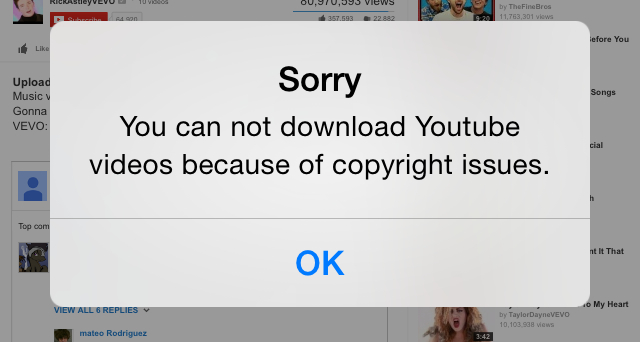 How to download youtube videos to your iphone tech news and analysis if you browse for a youtube video directly from the app and attempt to download youll be met with a warning that due to copyright issues the app ccuart Choice Image