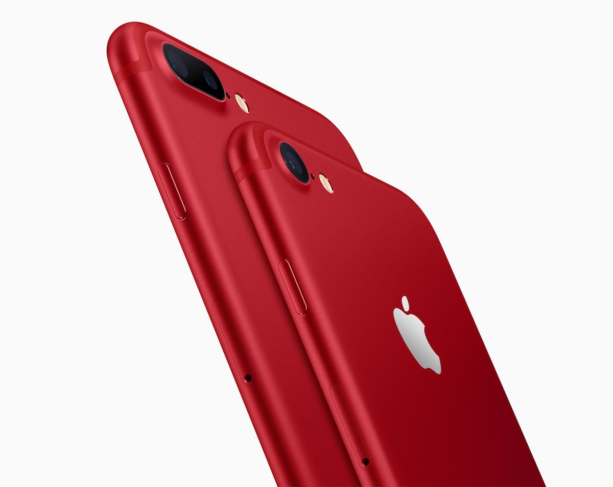 Apple tiene un nuevo iPhone ¡rojo!: el iPhone 7 (PRODUCT)RED Special Edition