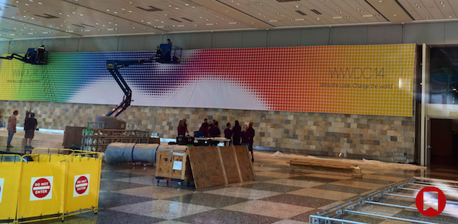 Banners at Moscone West, San Francisco, for Apple World Wide Developers Conference 2014