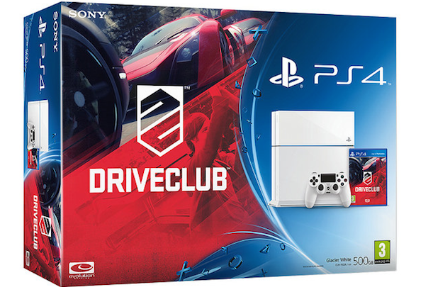 Driveclub bundle fills passenger seat with white PS4 in Europe