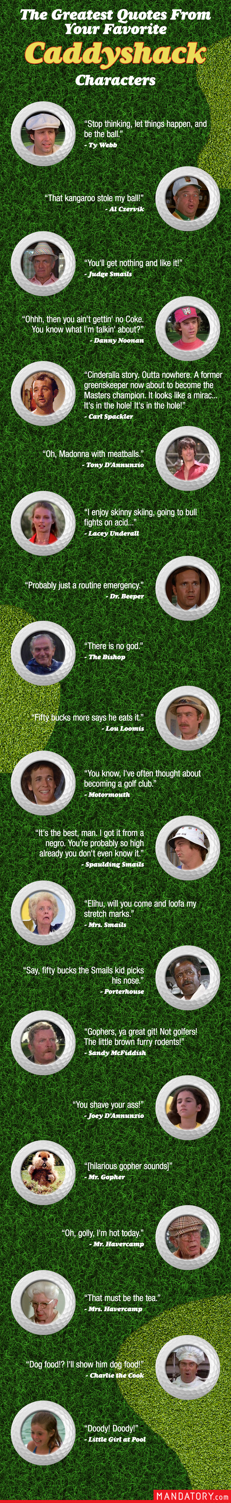 caddyshack quotes, greatest quotes from caddyshack, funny caddyshack quotes