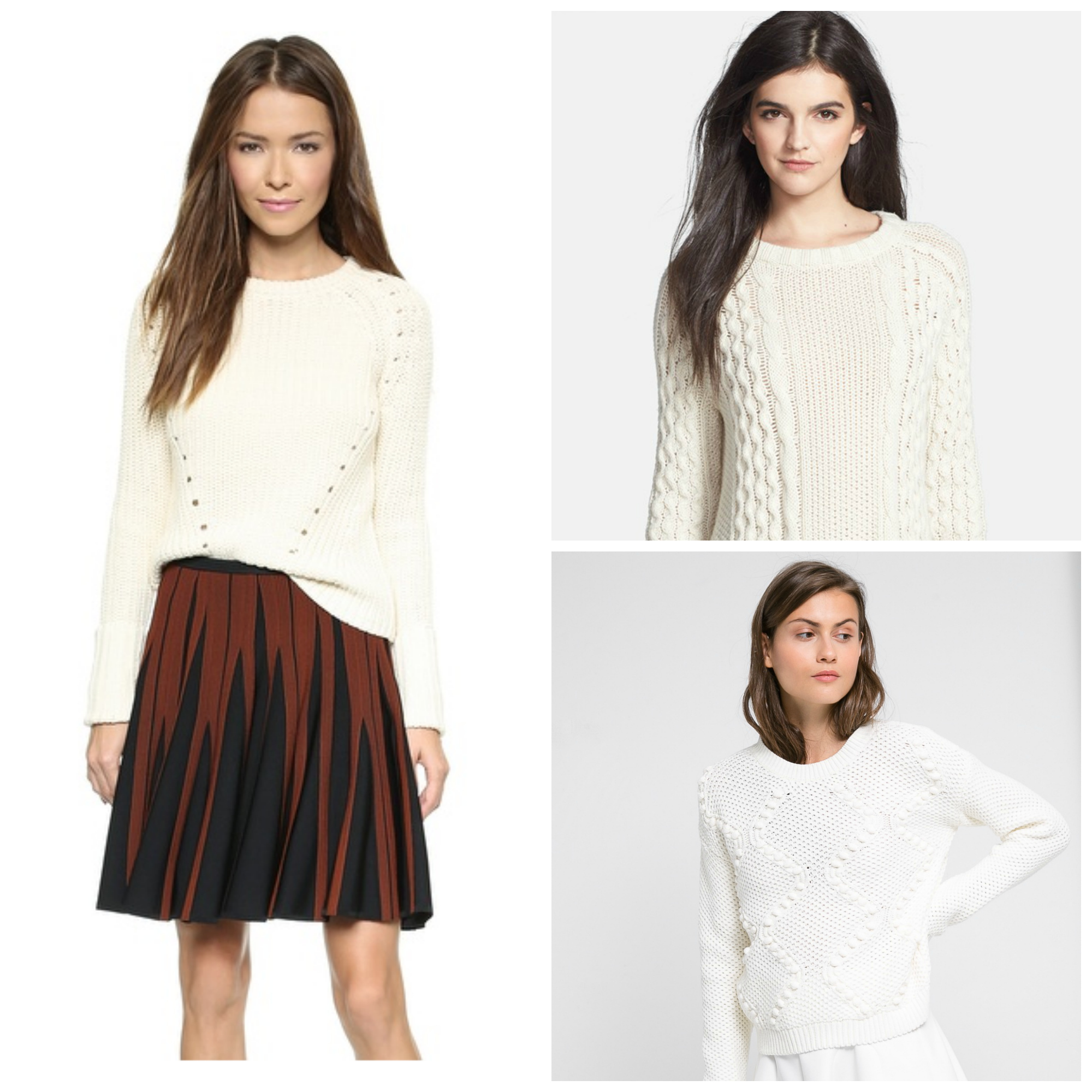 Shop this style: white fisherman sweaters