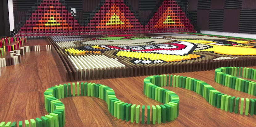 Domino-Wahnsinn: Bowser Jr. mit 23.400 Steinen