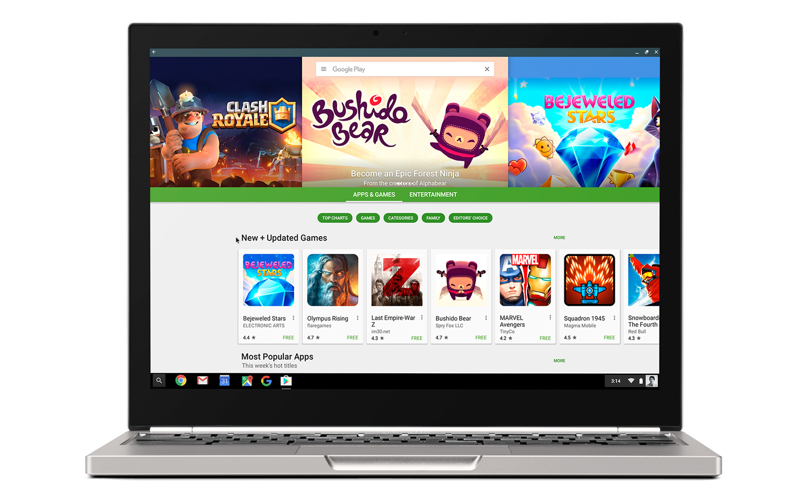 Oficial: Play Store y sus apps Android llegan a Chrome OS este año
