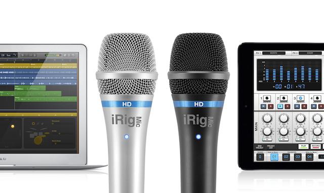 IK Multimedia, iRig Mic HD, microphone, digital microphone, iPhone, iPad, MacBook