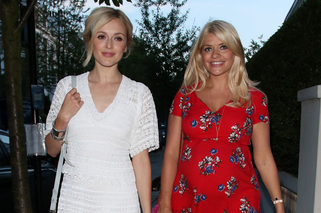 Pregnant Holly Willoughby enjoys night out with Fearne Cotton