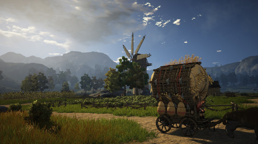 Black Desert windmill