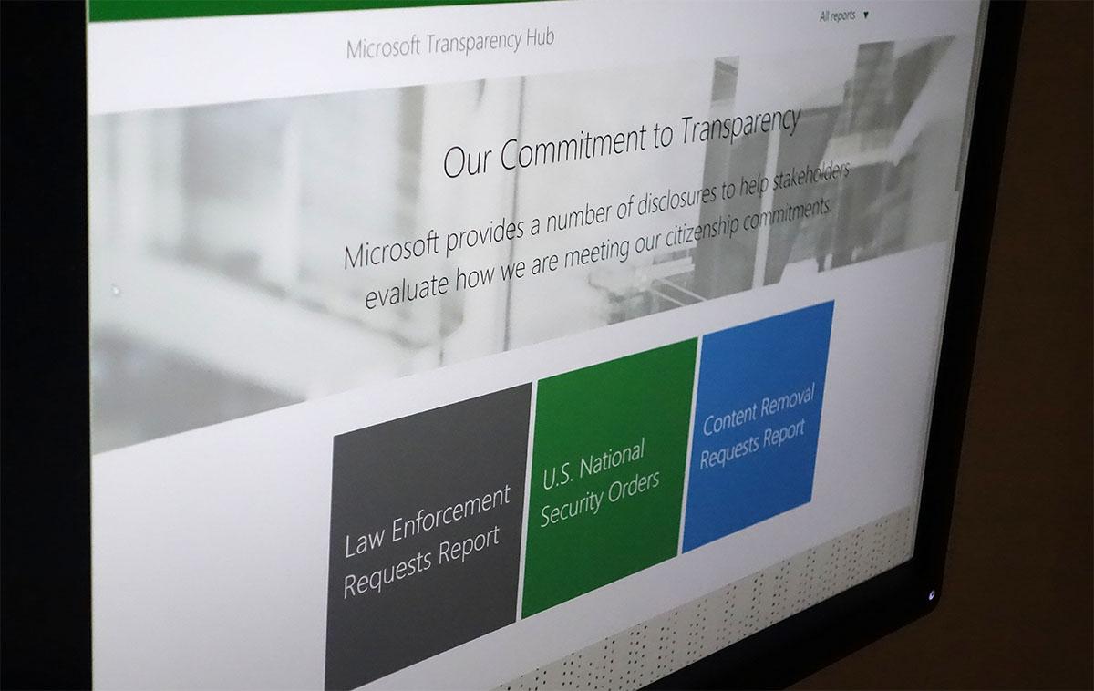 Microsoft's Transparency Hub tracks surveillance requests