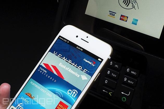 Apple Pay on an iPhone 6