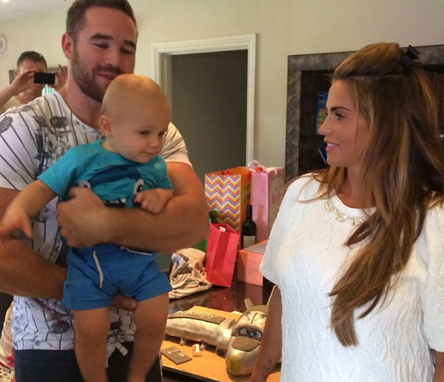 Katie Price and Kieran Hayler celebrate son Jett's first birthday - two weeks after welcoming new baby