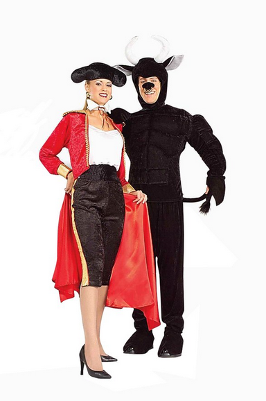 Matador and bull couples costume