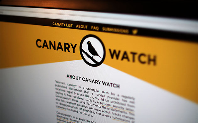 'Canary Watch' legally reveals when sites get national security requests