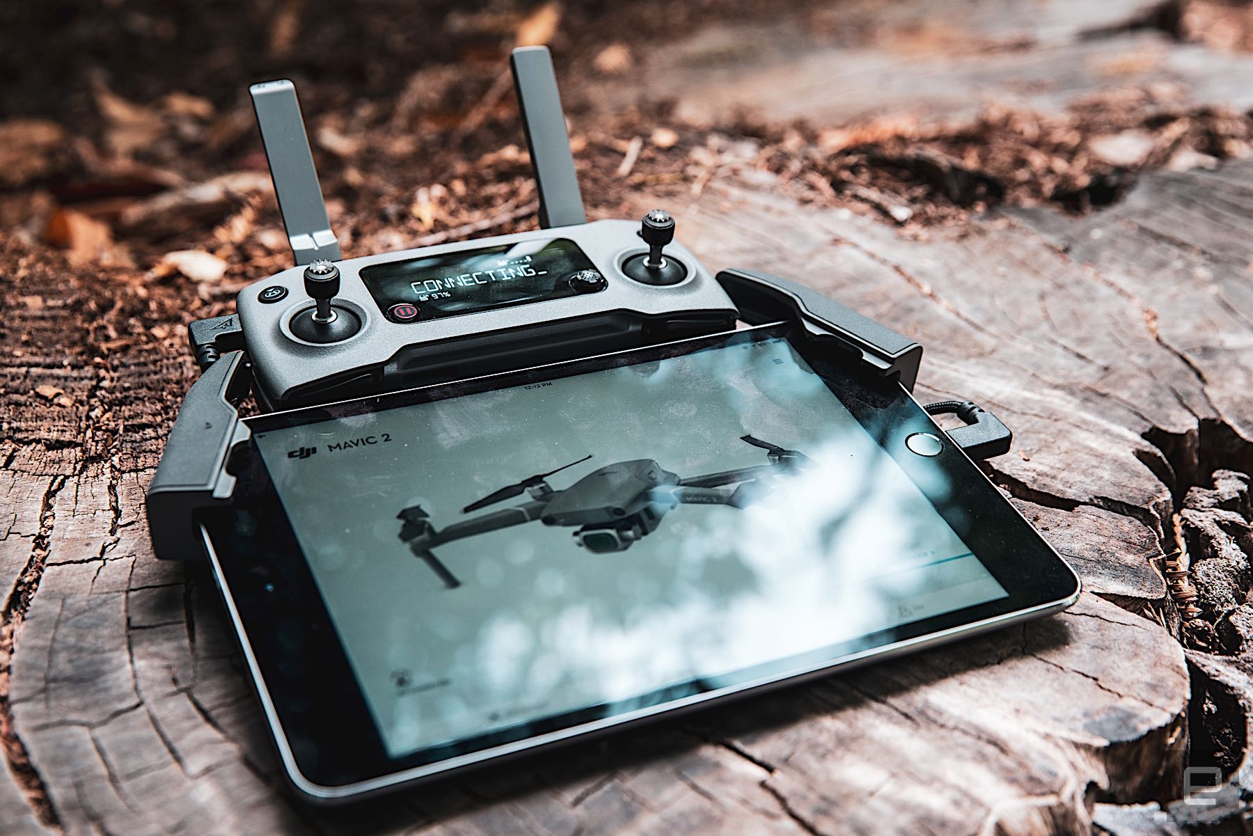 The Mavic 2 controller works great with an iPad mini, but you'll need a longer microUSB-to-lightning cable to connect them, the one that comes with the Mavic won't reach.