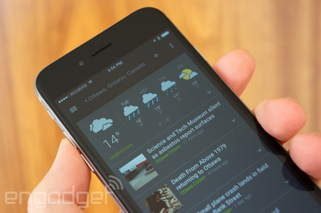 Google's News and Weather app is now available on iOS - 2 ...