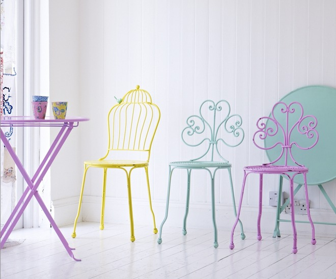 Oliver Bonas pastel furniture