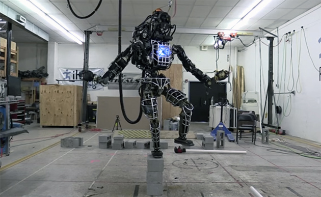 Boston Dynamics' Atlas robot weighs 330 pounds, can now balance on one leg