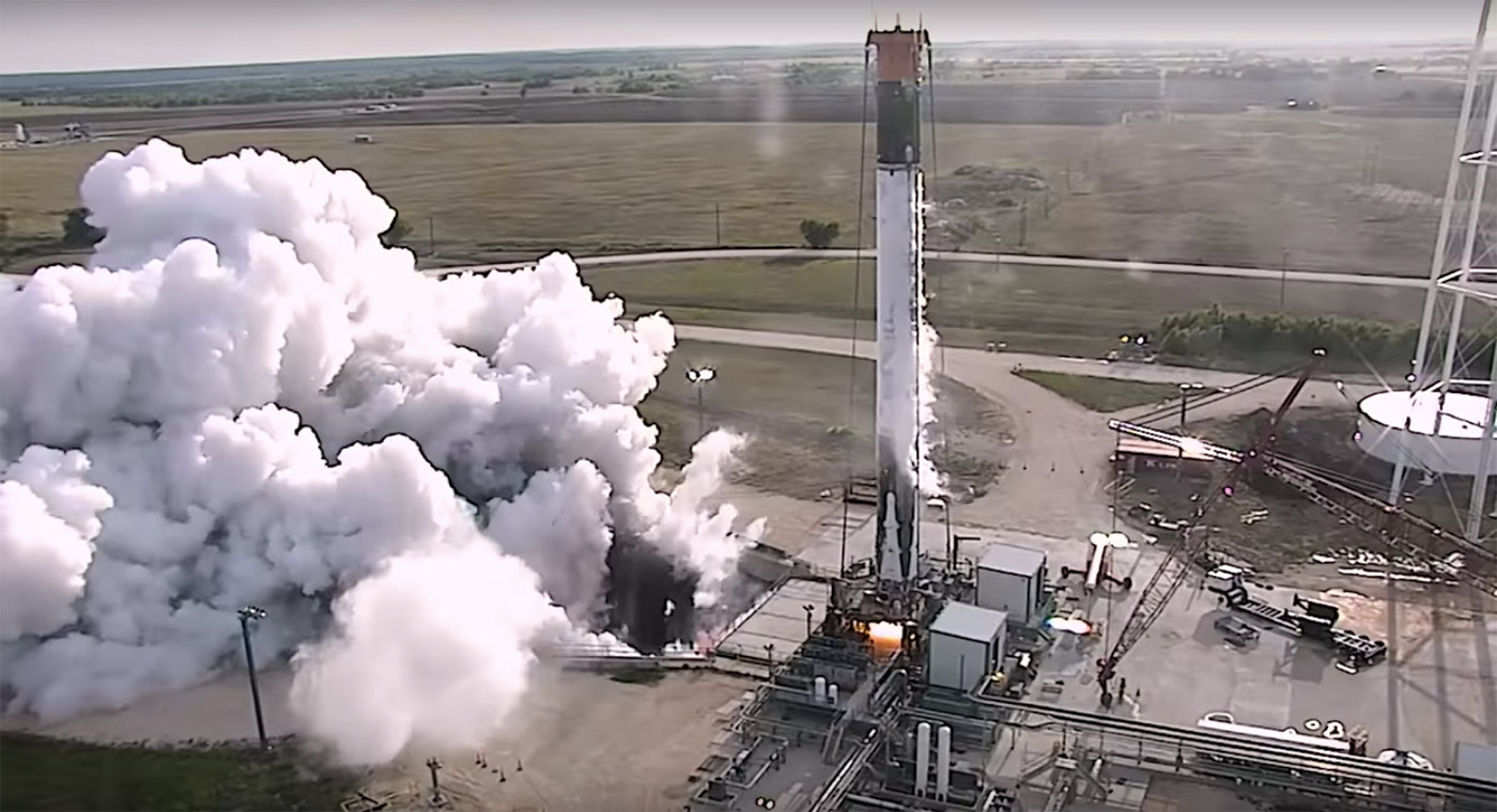 Watch SpaceX test fire one of the Falcon 9 rockets it relanded