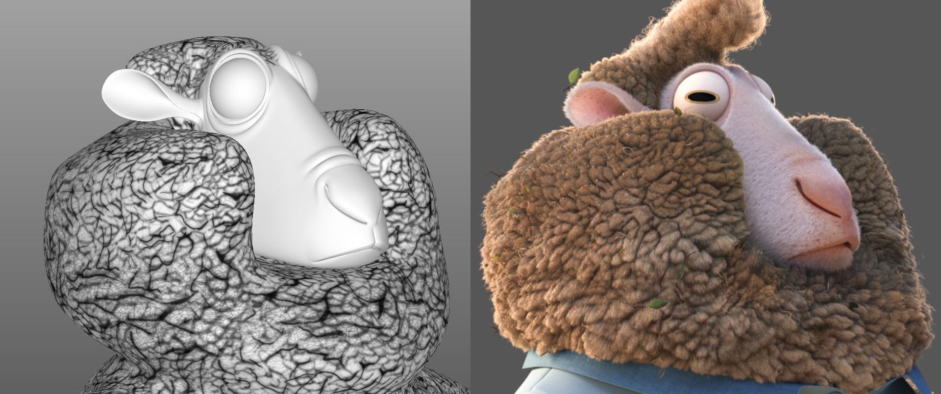 Fur technology makes Zootopia's bunnies believable