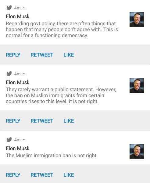 Elon Musk deleted tweets