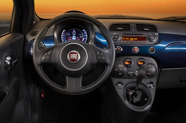 Fiat 500 upgraded interior