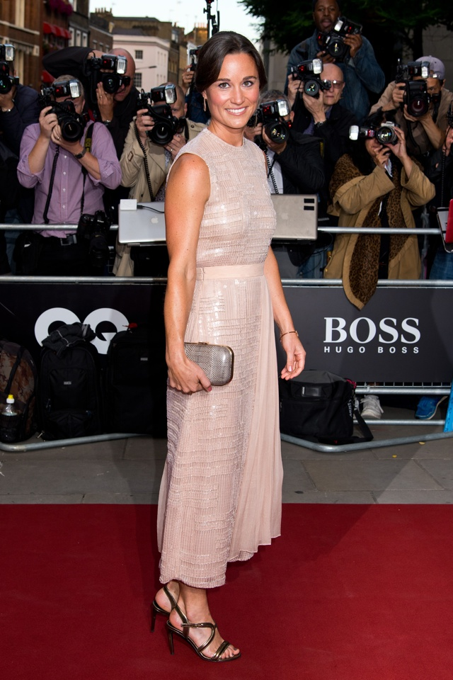 Pippa Middleton wows in pink sequin dress at GQ Men of the Year Awards