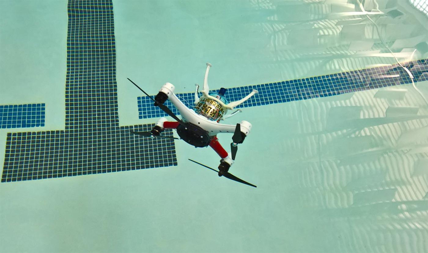 Este drone puede volar, flotar y hasta practicar submarinismo
