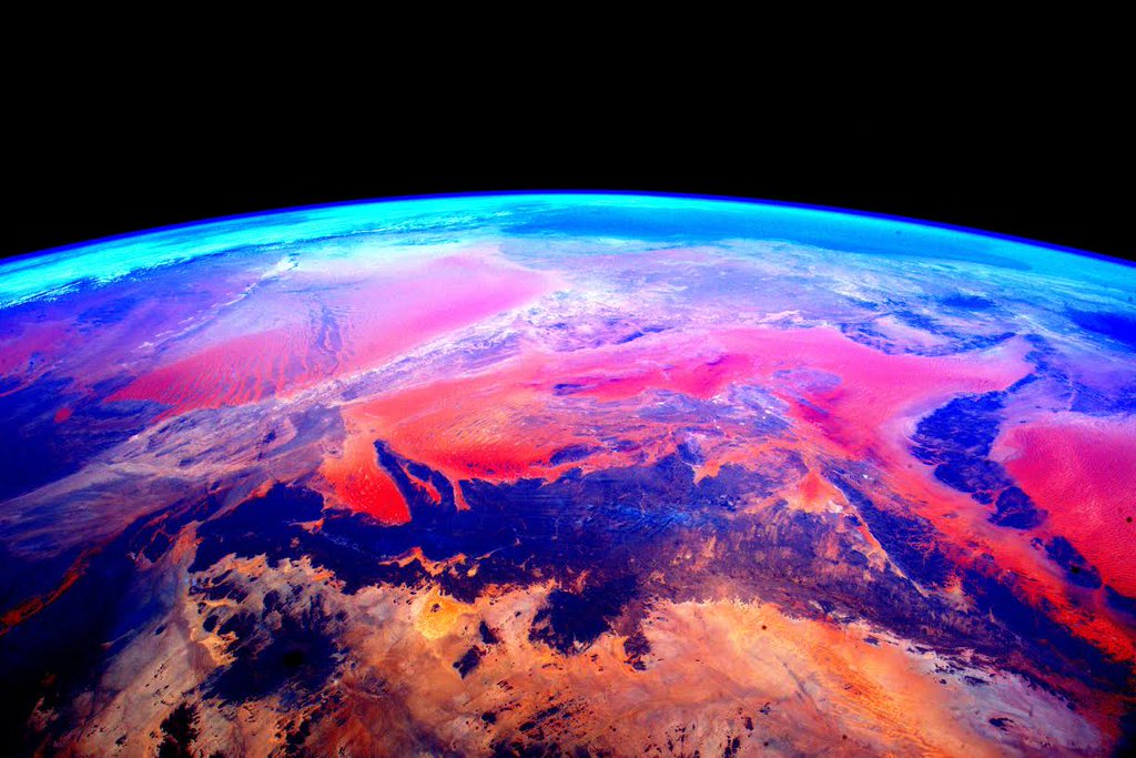 Una de las cientos de imágenes tomadas desde la ISS