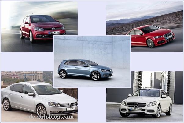 Top 5: die meistverkauften Autos 2014