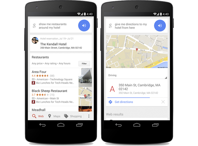 Google now shows what you can do near your hotel