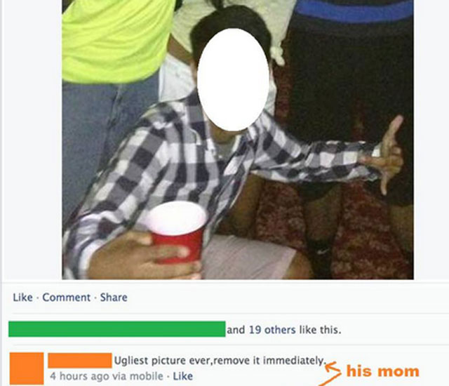 embarrassing facebook parents