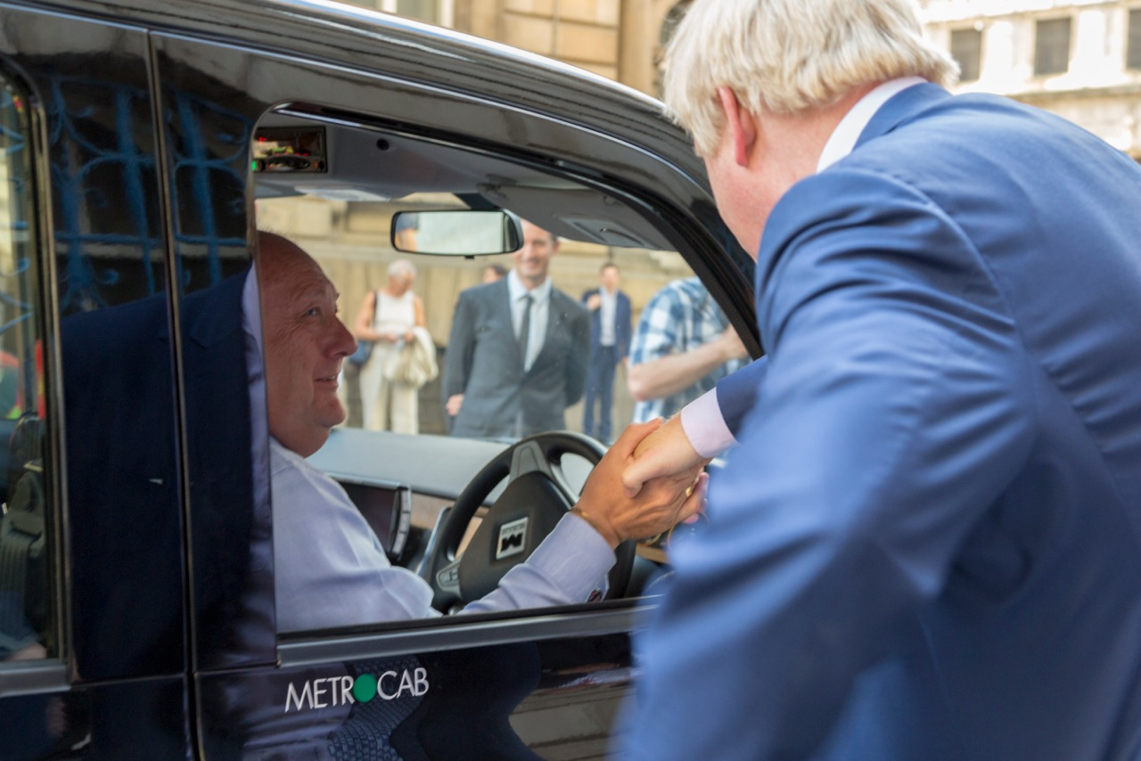 london mayor boris johnson range extended electric metrocab
