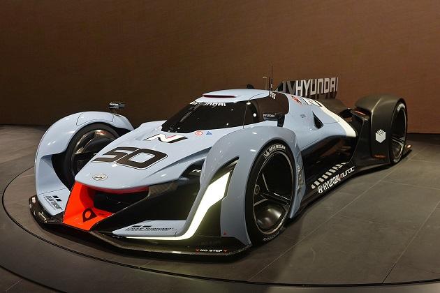 【フランクフルトモーターショー2015】ル・マン挑戦の意志表明? ヒュンダイが「N 2025 ビジョン グランツーリスモ」を公開
