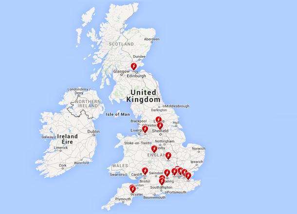 Cargadores Tesla en Reino Unido