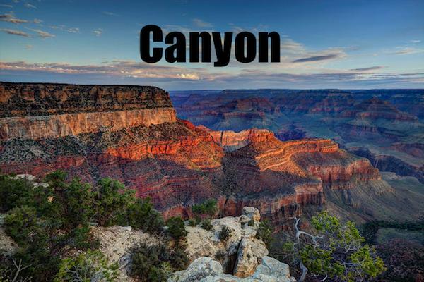 50 words for 50 states, arizona canyon