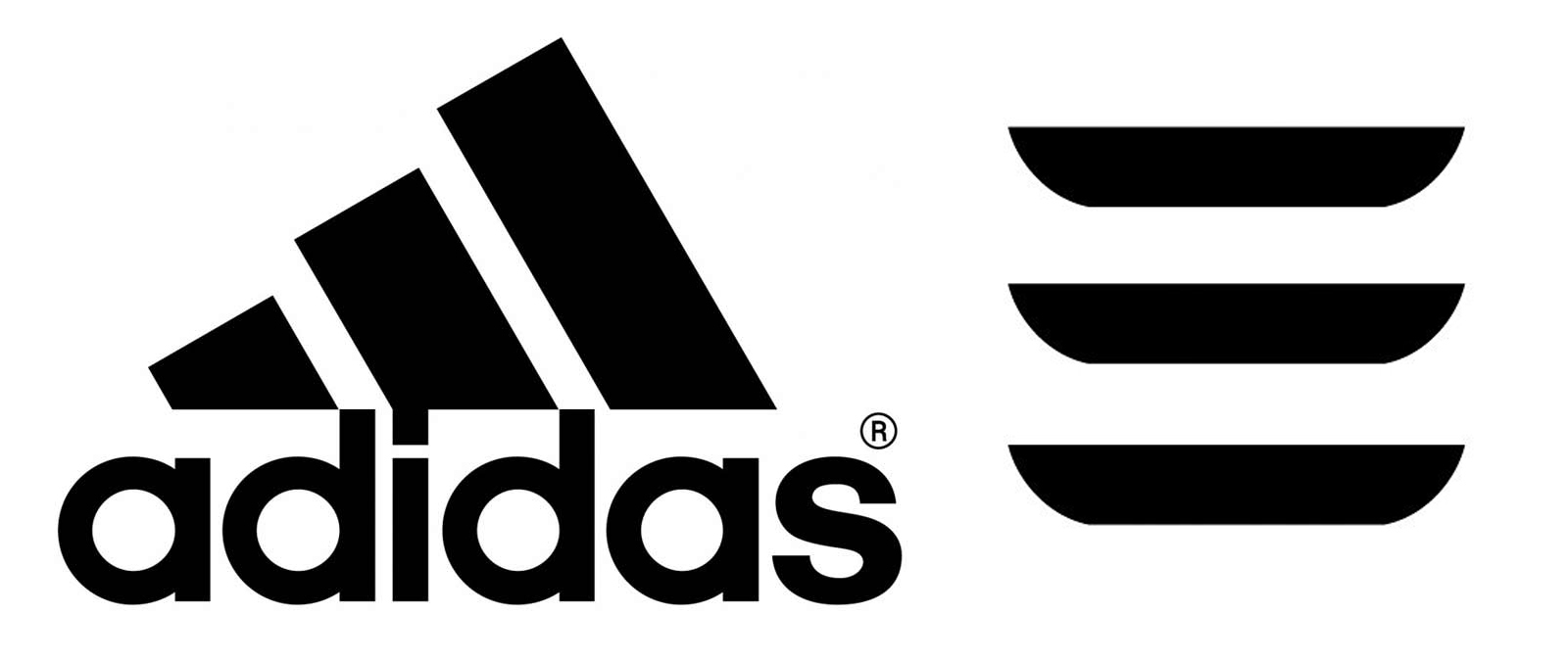 Adidas and Tesla Model 3 logos
