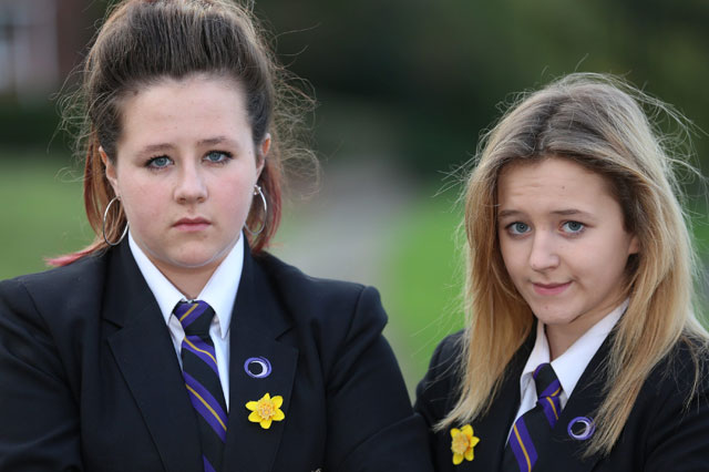 Schoolgirl sisters excluded over charity daffodils for dying granddad