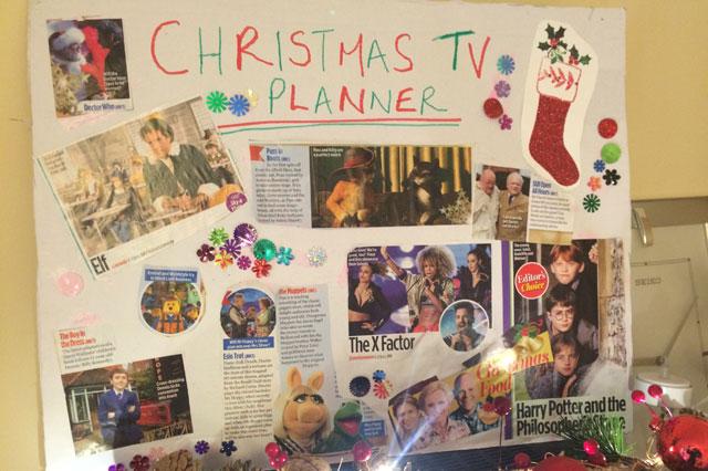 Christmas life hack 2: Christmas Family TV Planner
