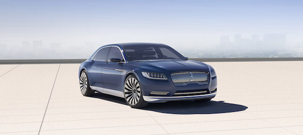 With a sleek silhouette and a new centered chrome grille, the Continental Concept signals the arrival of a new face for Lincoln.