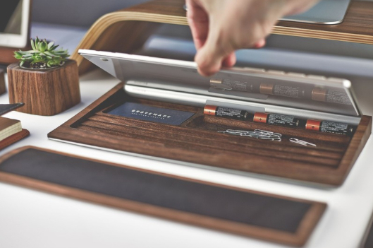 walnut desk accessories 2