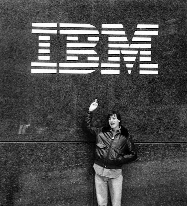 manliest photos on the internet, funny manly images, steve jobs flips off ibm