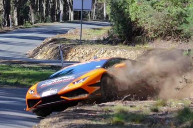 【ビデオ】これがランボルギーニ「ウラカン」によるオフロードの走り方!