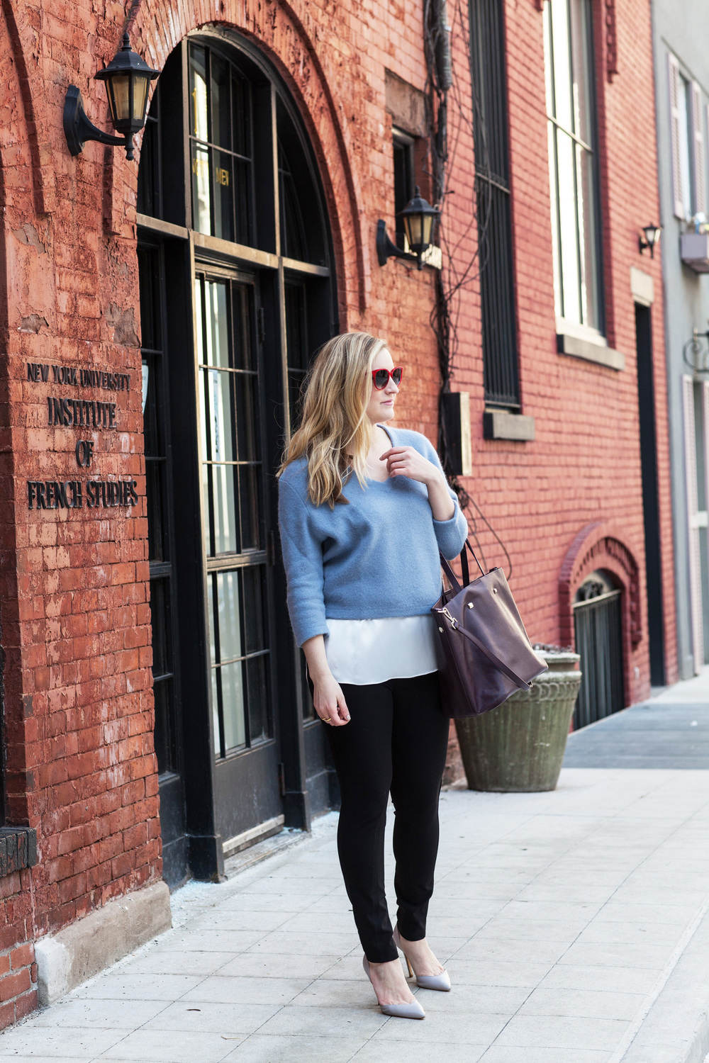 Street style tip of the day: Eggshell blue