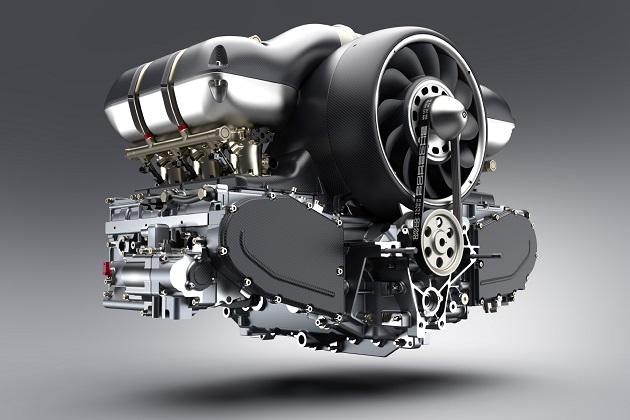 軽量化と高性能化を実現した新たなポルシェ「911」用水平対向エンジンを、シンガー社とウィリアムズが共同開発