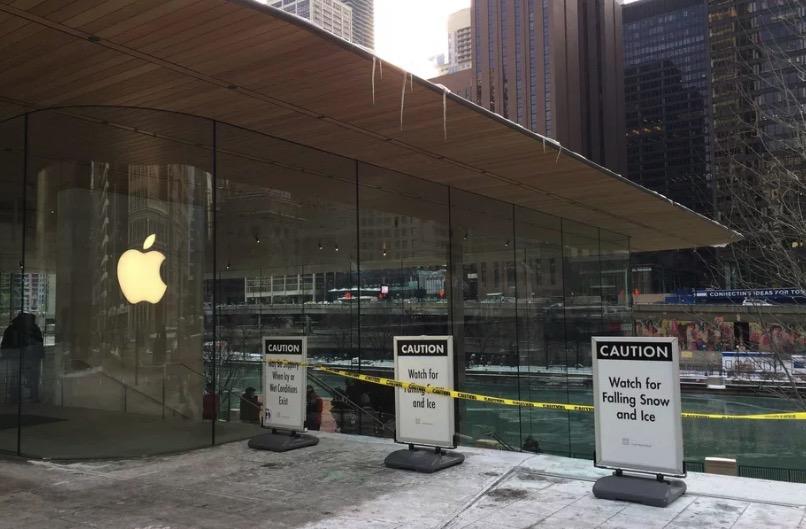 Problem gelöst: Neuer Apple Store in Chicago kann dem Schnee trotzen